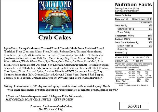 Cheesecake Factory Crab Cakes Nutrition Facts